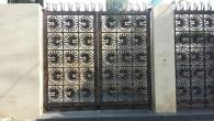 Entrance Gate Anahaw Leaves Antique